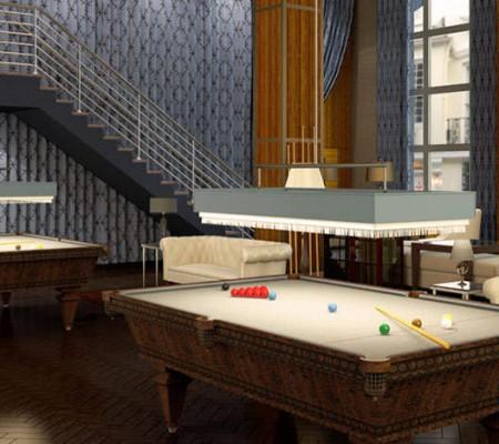 37 wall Billiards Room